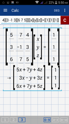 12 5  Variable Matrix to System of Linear Equations - Graphing